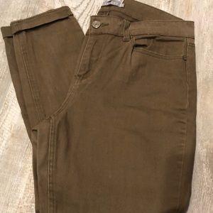 Indigo Rein color flex army green pants sz 11
